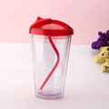 Hot sales plastic drinking straw cup for kids bpa free