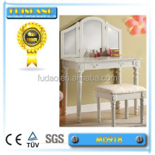 white Dressing Table with Stool Vanity Mirror Drawer Shabby Chic Style