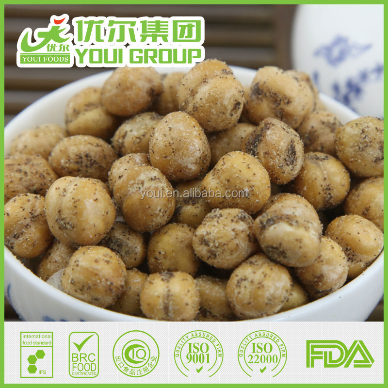 2016 Chinese Wholesale Black Pepper Fried Chickpeas Price