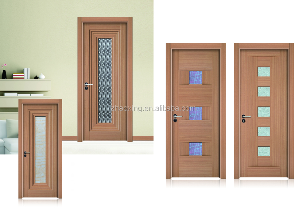 lastest design bathroom door hot sale wooden interior door,top fashion wooden new design door,wholesale panel wood door