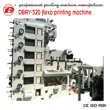 hot sale new product stick label six colors flexographic plastic printing machine