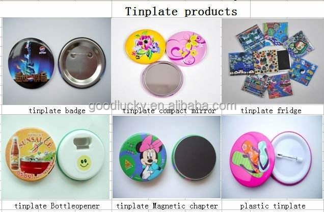 Custom printed magentic sticker metal tin magnet fridge Only welcome customer design