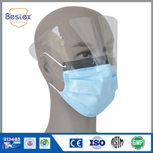 costume disposable face mask for hospital with shield