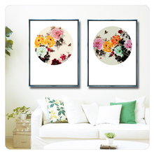 2017 the most welcomed frameless HD flower Canvas prints with cheap price in bulk