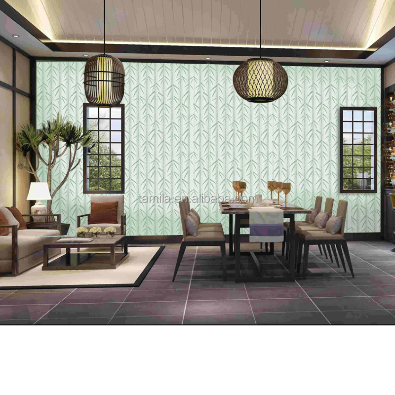 Child room living house decor new product decor Damask bamboo pattern waterproof vinyl Wallpaper