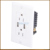 2.1A ETL approval USB wall socket Embedded core with 2 USB port and USA electrical outlet