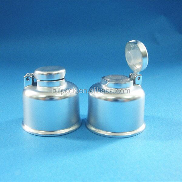 24/410 UV silver flip top cap for bottle