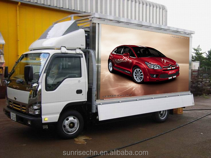 P10mm outdoor led car advertising display screen /Outdoor Full Color Truck Led Display Panel