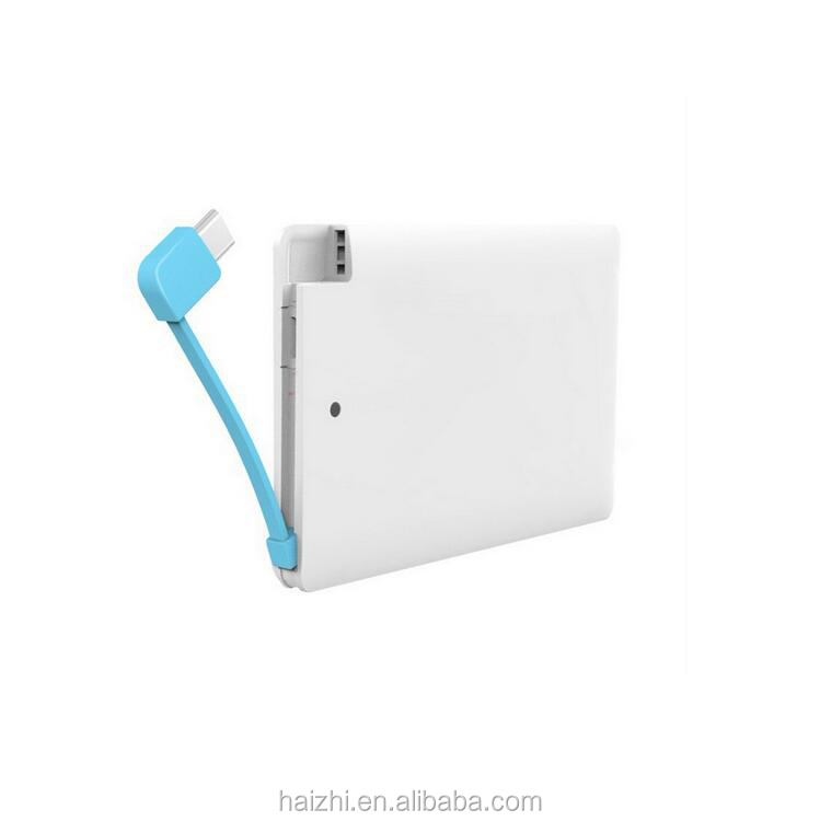 credit card pack 4000mah supply power bank with high quality
