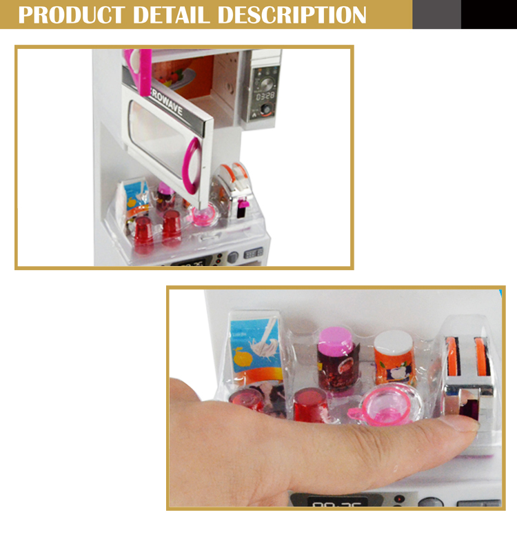 Hot selling music happy kitchen toys for mini kitchen set for Kitchen set video song