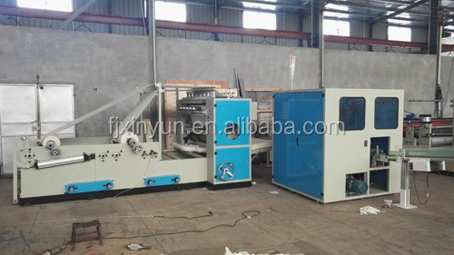 Full automatic plastic bag packing facial tissue machine production line