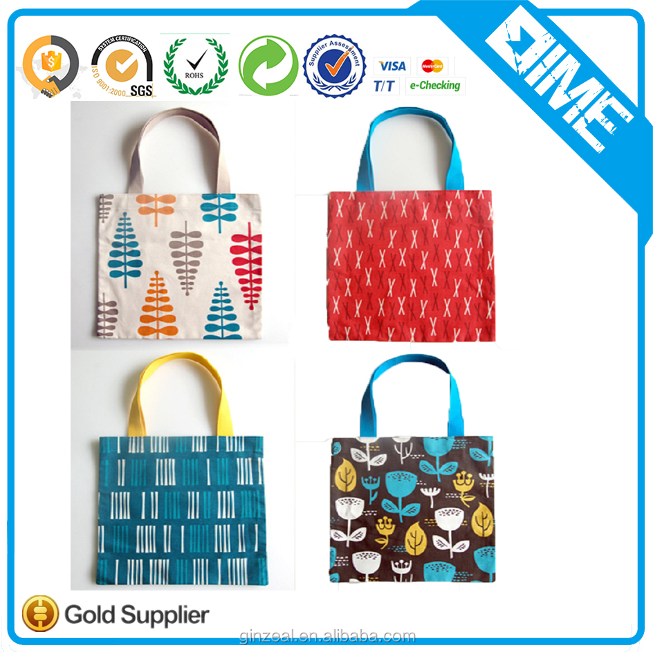 Eco-Friendly OEM Logo Imprinted Promotional Cheap Handmade Fabric Shopping Tote Non Woven Bag