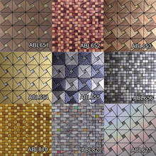 Modern Kitchen Building Materials Set drill Metal Mosaic Tile Design Home Decoration Luxurious Mosaics Tile China Supplier ABL10