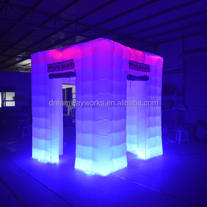 Guangzhou manufacturer LED inflatable photo booth, photo booth tent, portable photo booth for sale