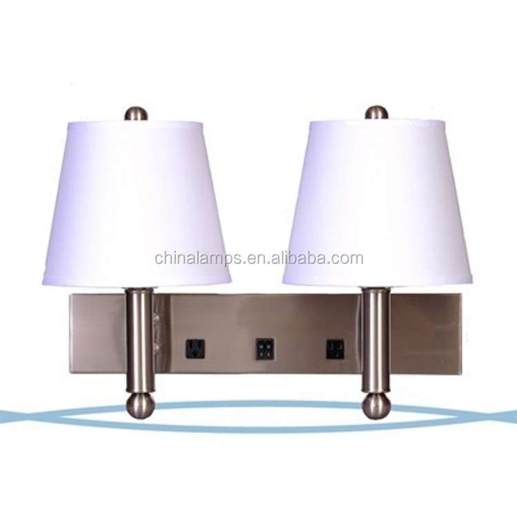 usa outlet and usb wall lamp for hotel guestroom view usb wall lamp. Black Bedroom Furniture Sets. Home Design Ideas