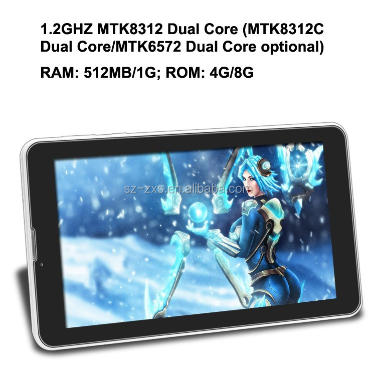 China cheap tablet pc android 4.2 MTK 8312 dual core 7 inch smart tablet 3G shenzhen tablet manufacturer