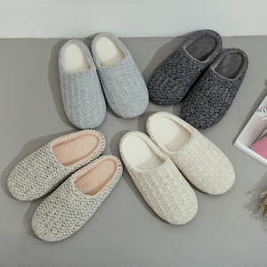 Customized men/women house indoor cashmere room slippers