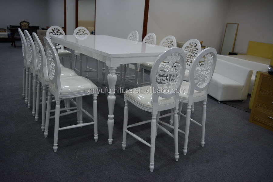 white high top wedding chairs and tables XYN2217