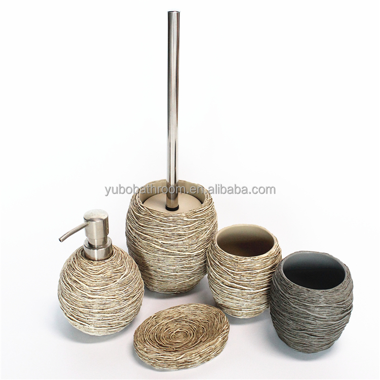 Bird nest finishing bathroom resin accessories set with factory good price and quality