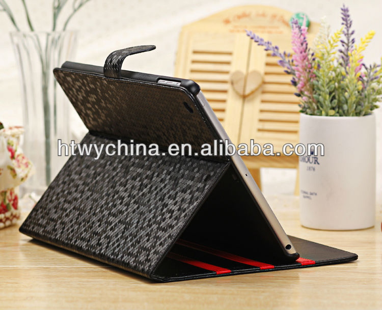 New Arrival Luxury Diamond Stand Leather Cover Case For iPad Air