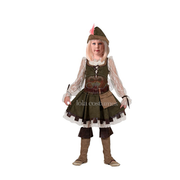 LOLA Brand Halloween Robin Hood Girl Skirt Costumes for Kids Girls