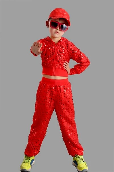 The new children's clothing suits/kids Sequins suit/jazz dance costumes CJ-024
