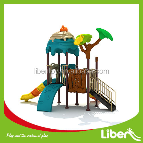 commerical used Children outdoor funny play equipment children plastic slides kids cheap outdoor playground