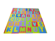 Children's Alphabet and Numbers Foam Play Mat - Educational, Safe, and Fun - Made from EVA Foam 36 pieces plus edges, 26 Letters