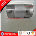 Sch 40 BS 21 NPT threaded screwed short pipe nipple