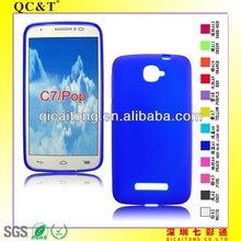 Wholesale New Designs pudding Case Soft Gel Cover for alcatel pop c7