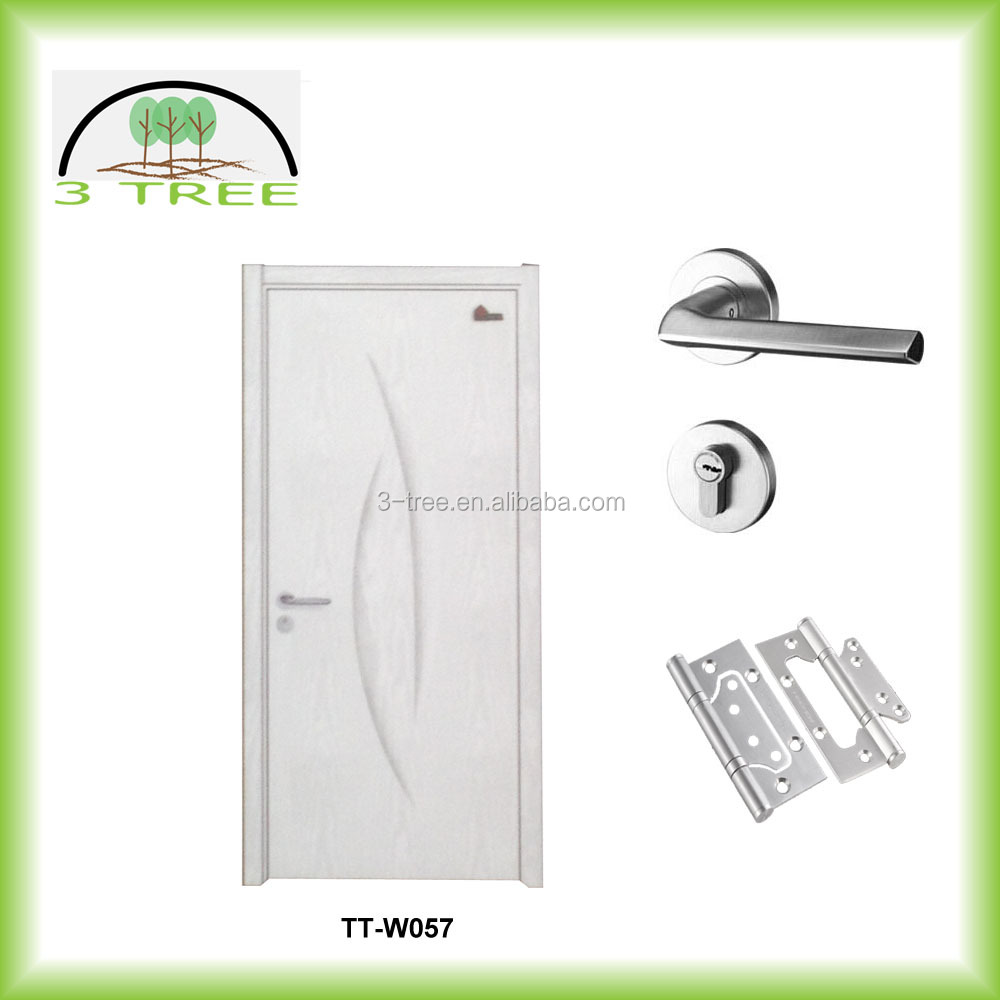Principle white plain PVC film door