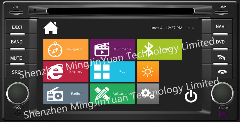Car DVD player with GPS for Subaru Forester with design similar to Windows8
