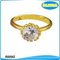 Olivia 18k Yellow Gold Cubic Zirconia Wedding Ring Gold Plated Fashion aaaaa Cubic Zirconia Ring