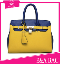 Color fashion womens leather handbag factory ,ladies leather handbag manufacturer online shopping