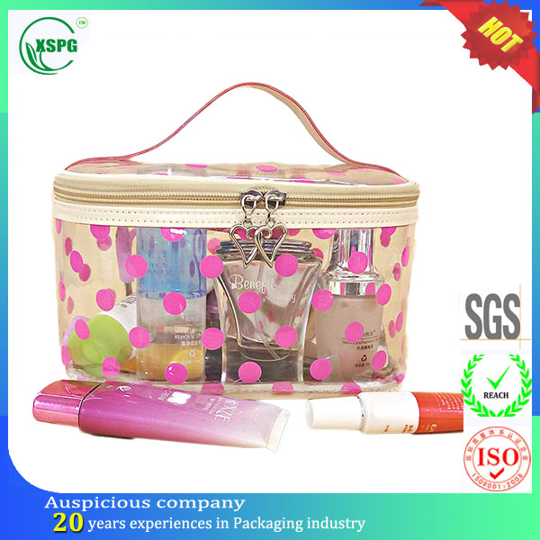 Two-way slider Zipper large volume travel toiletry bag pouch hanging