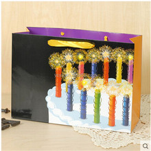 Extra large birthday candles print gift packaging paper bags