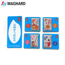 Custom printed colorful paper fridge magnet for promotional