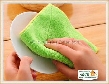 Kitchen dish cup sponge chenille microfiber cotton rag paper for printing