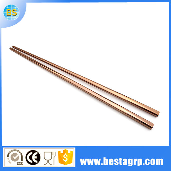 stainless steel chopsticks 18/10, pvd plated rose gold chopsticks, stainless chopsticks