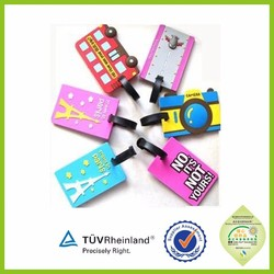 Best selling lively animal shape 3d luggage tag OEM personalized LOGO
