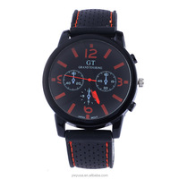 Fashion unisex watch design your own watch simple black silicon watch