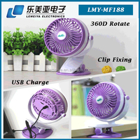 Good quality outdoor mini air blower fan wall mounted portable usb clip-on fan with usb port charge
