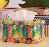 Pumping Paper Tissues Colorful Storage Box Security Iron Containers