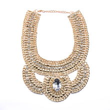 fake gold jewelry designs chunky chain link necklace wholesale