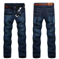 Add flocking jeans for men and 2015 warm winter pants Loose trousers of straight