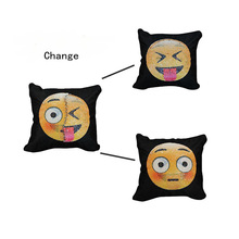 flipping sequin poop pillow magic emoji pillow cases two side sequin emoji pillows