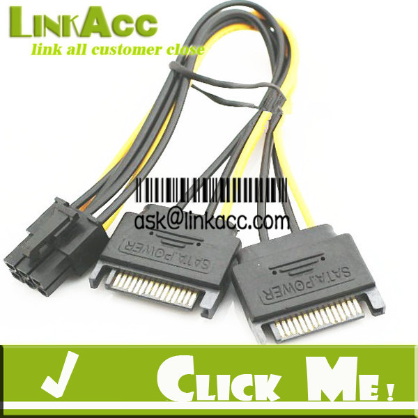 Linkacc-59ST StarTech SATPCIEXADAP 6in SATA Power to 6 Pin PCI Express Video Card Power Cable