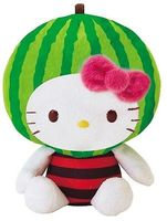 new fashion new style factory promotion stuffed plush hello kitty with watermelon hat