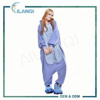 ALQ-A069 Anime cosplay costume blue stitch christmas onesie