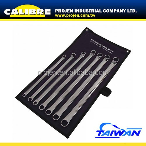 CALIBRE 7pc XL 10-24mm Extra Long Ring Spanner Set
